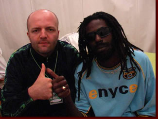 Pier again with Buju (July 2003)